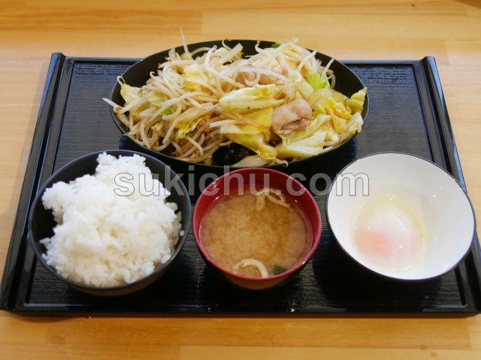 ぶたまる食堂米沢店肉野菜炒め定食