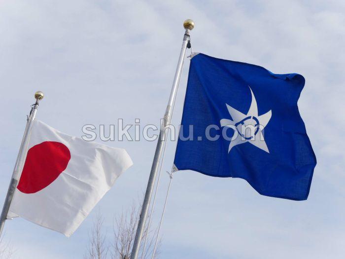 令和2年水戸市消防出初式旗掲揚