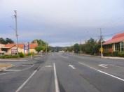The highway is empty
