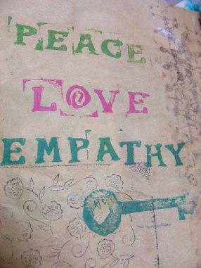 Peace Love empathy page