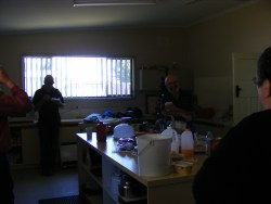 Morning tea at the working bee