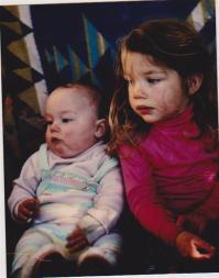 Juni's mum and Auntie Lucie, 1987