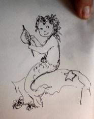 Juniper mermaid sketch