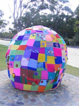 yarnbombed rock, King's Park, Perth