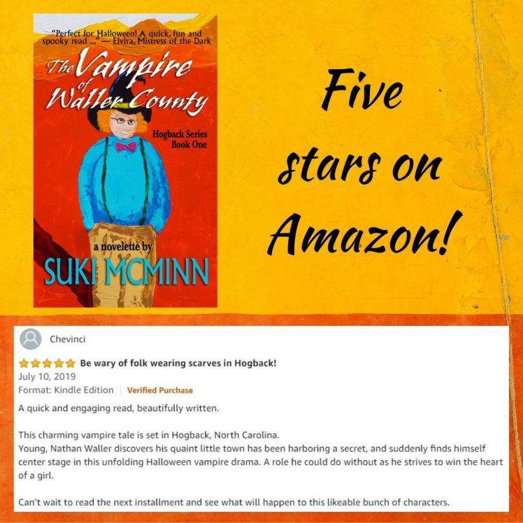 the vampire Five stars on Amazon!