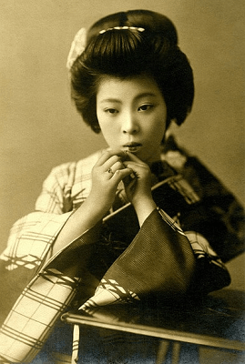Geisha in the old time