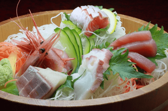 Sashimi with Daikon