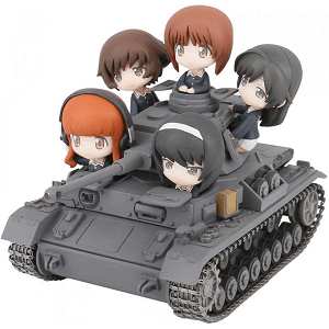 Girls und Panzer Action Figure Anko Team on their Tank