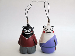 Kenshin and Kumamon Key Chain Strap