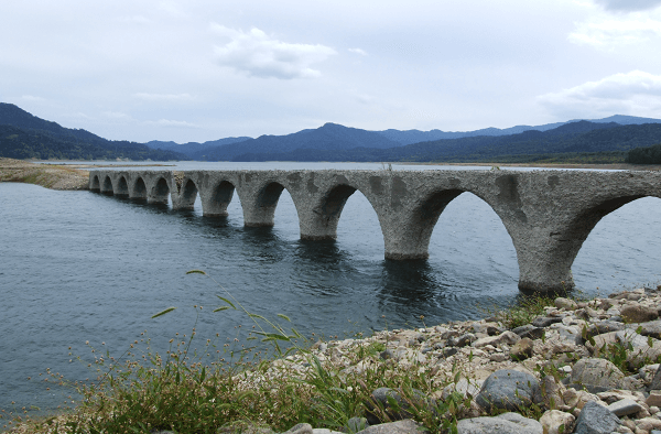 Taushubetsu Bridge in Japan