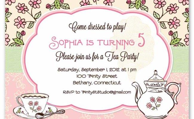 Contoh Invitation Card Tea Party Miegames