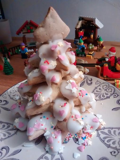 Petits fours au citron, version sapin de Noël
