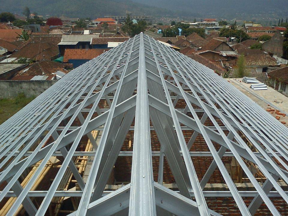 baja ringan g550 jual dan pasang rangka atap sky truss | cv ...