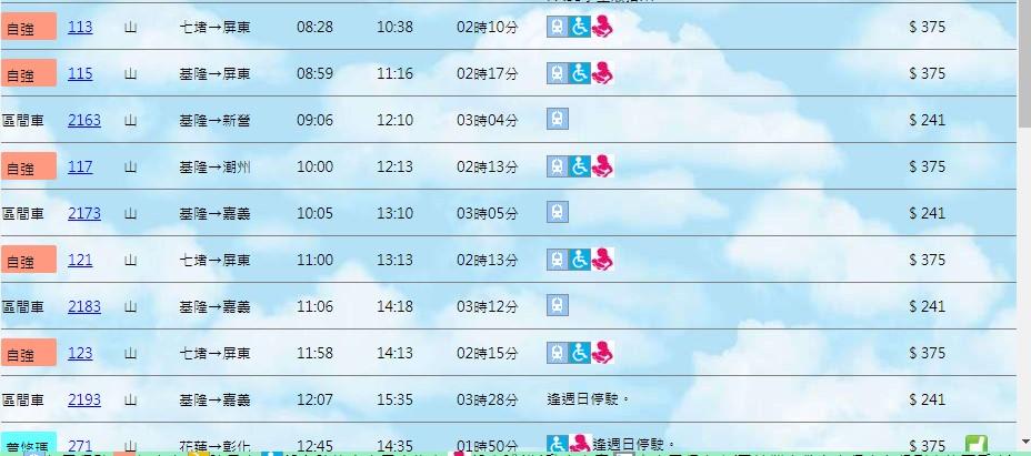 台灣鐵路訂票介面3