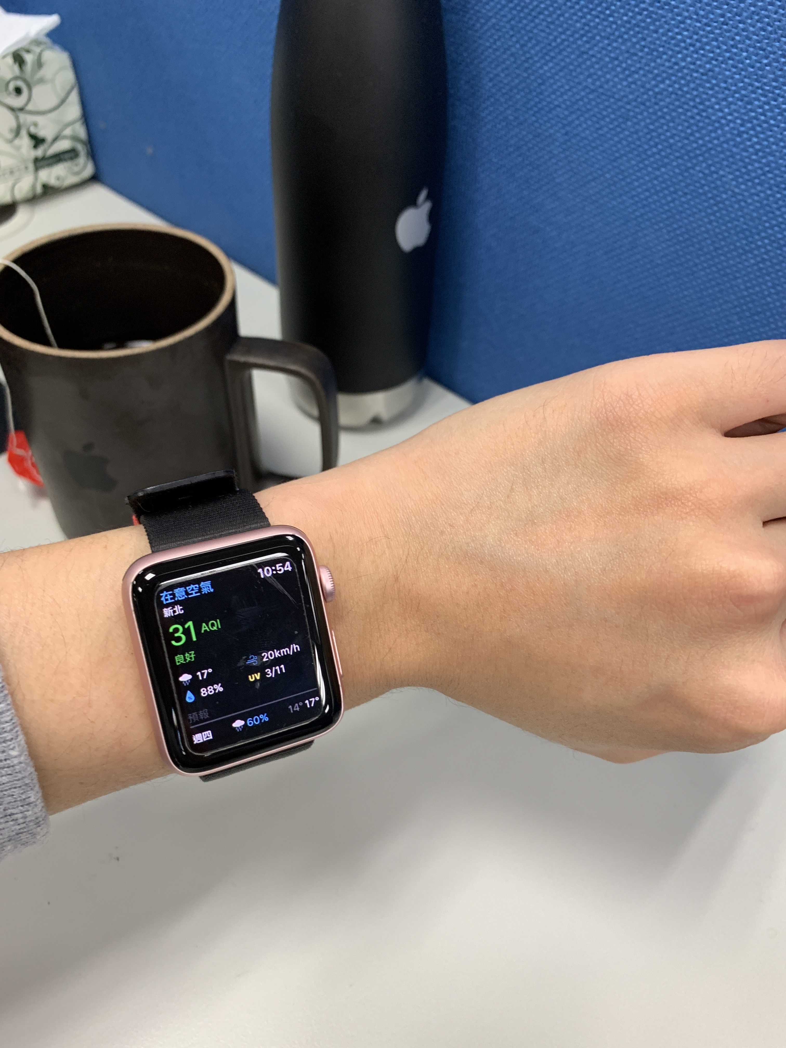 空氣品質連動手錶