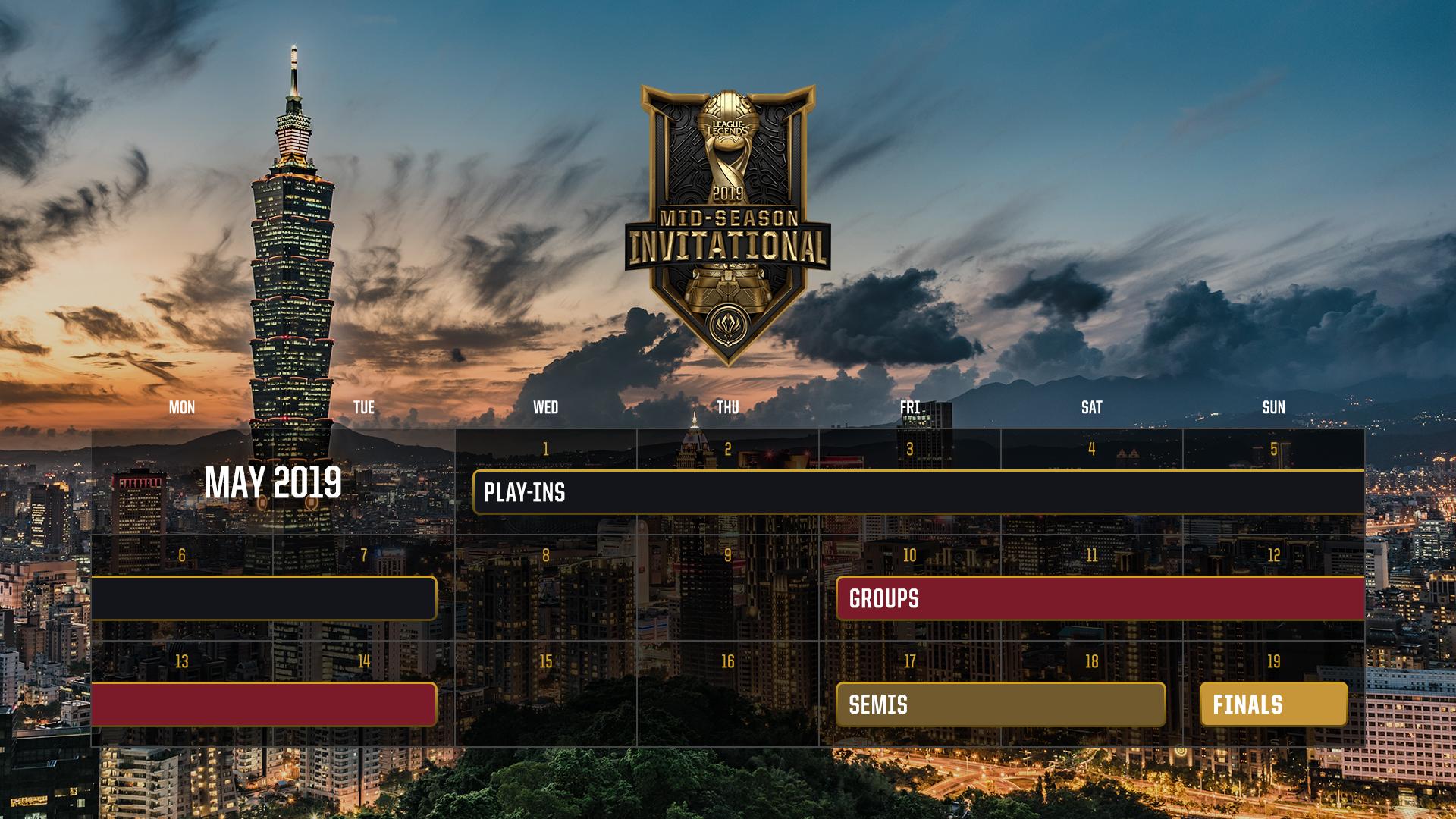 季中賽賽程 照片取自LOL官網