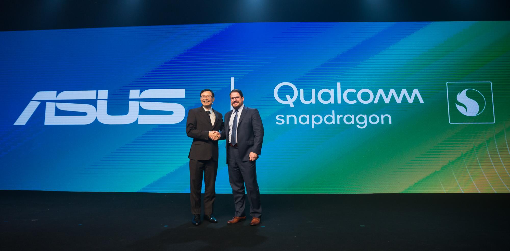 (左)與高通總裁Cristiano Amon(右)合影,許先越表示很榮幸成為第一家在巴西推出Snapdragon SiP 1的合作廠商。