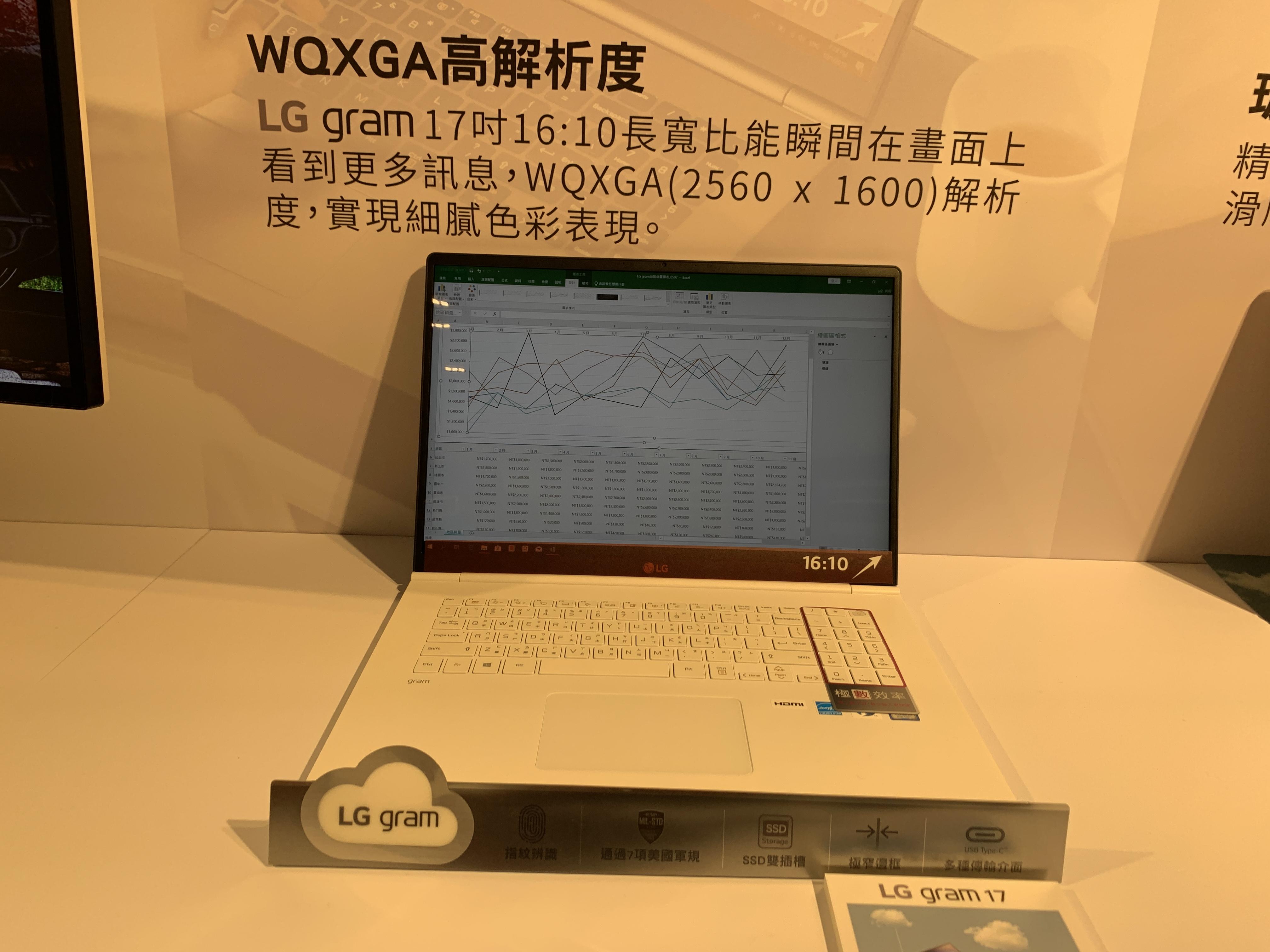 LG gram 16:10 、 2K解析度