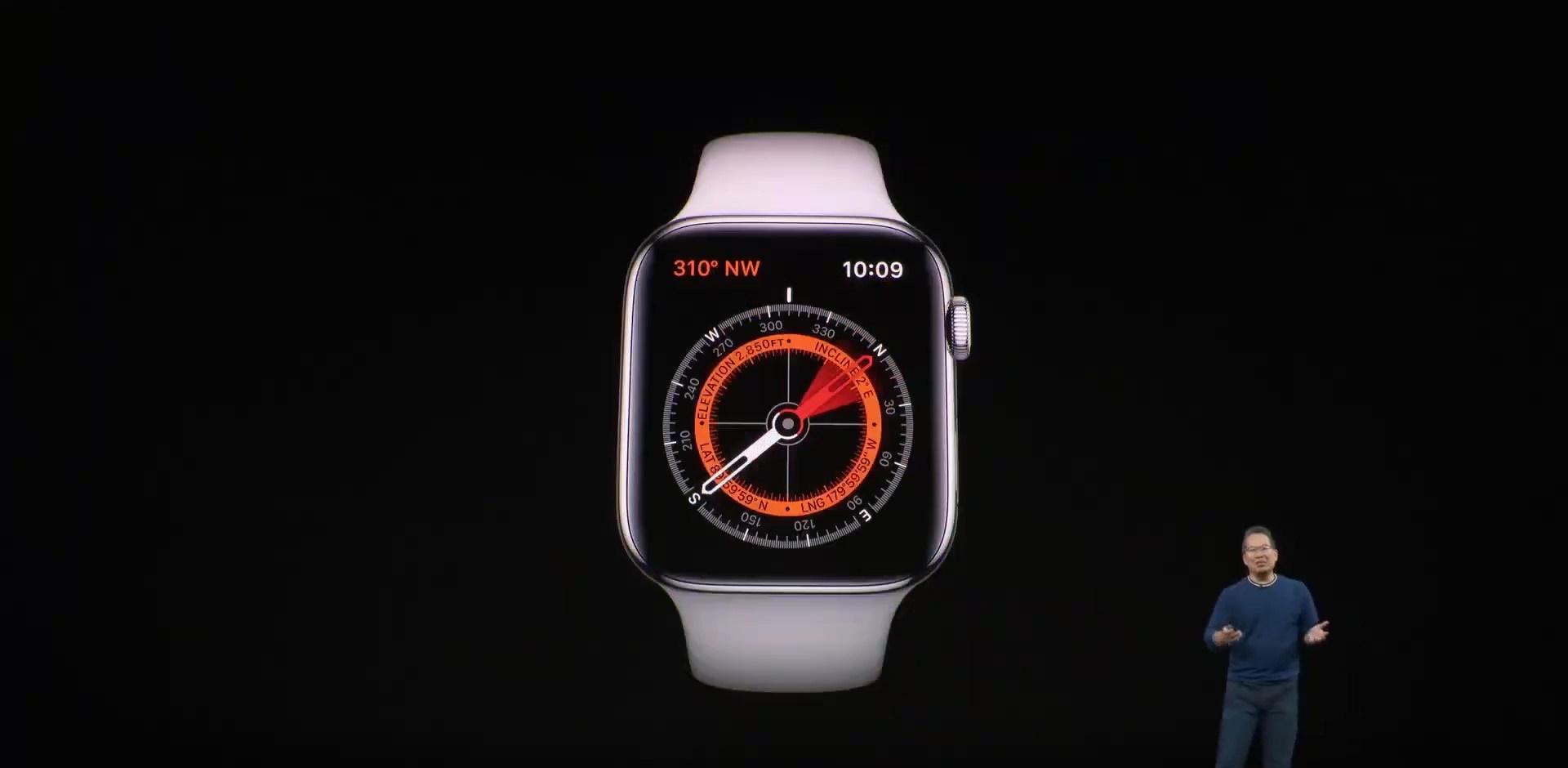 Apple Watch Series 5 支援 指南針