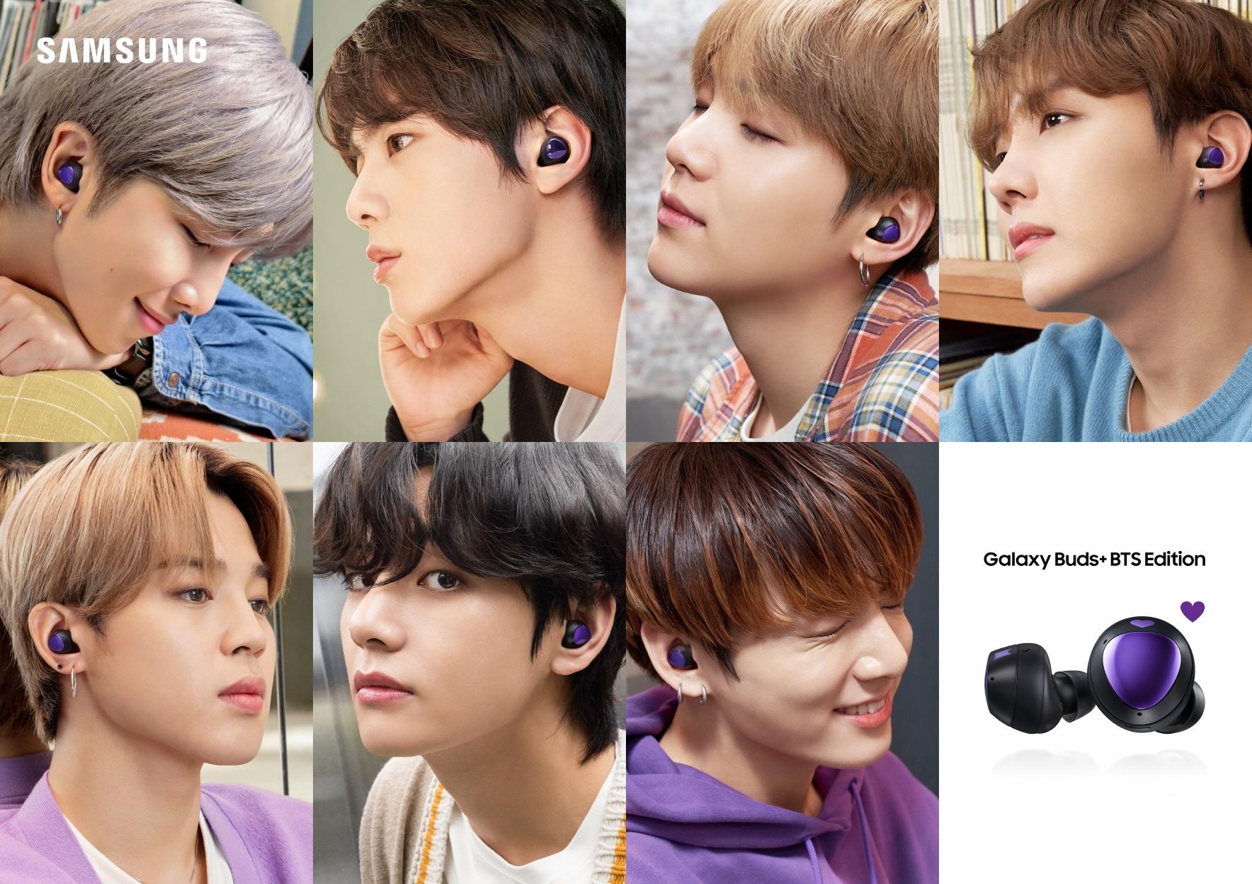 2】Galaxy Buds+ BTS Edition以嶄新的紫色愛心設計,象徵BTS防彈少年團與全球粉絲緊密連結
