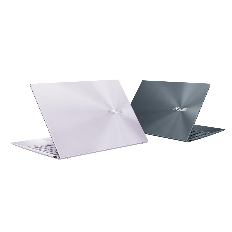 ASUS ZenBook 14 (UX425)提供綠松灰與星河紫供消費者做選擇,輕薄機身中蘊藏強大效能,可輕鬆執行多工作業,無論工作或娛樂皆能從容處理。