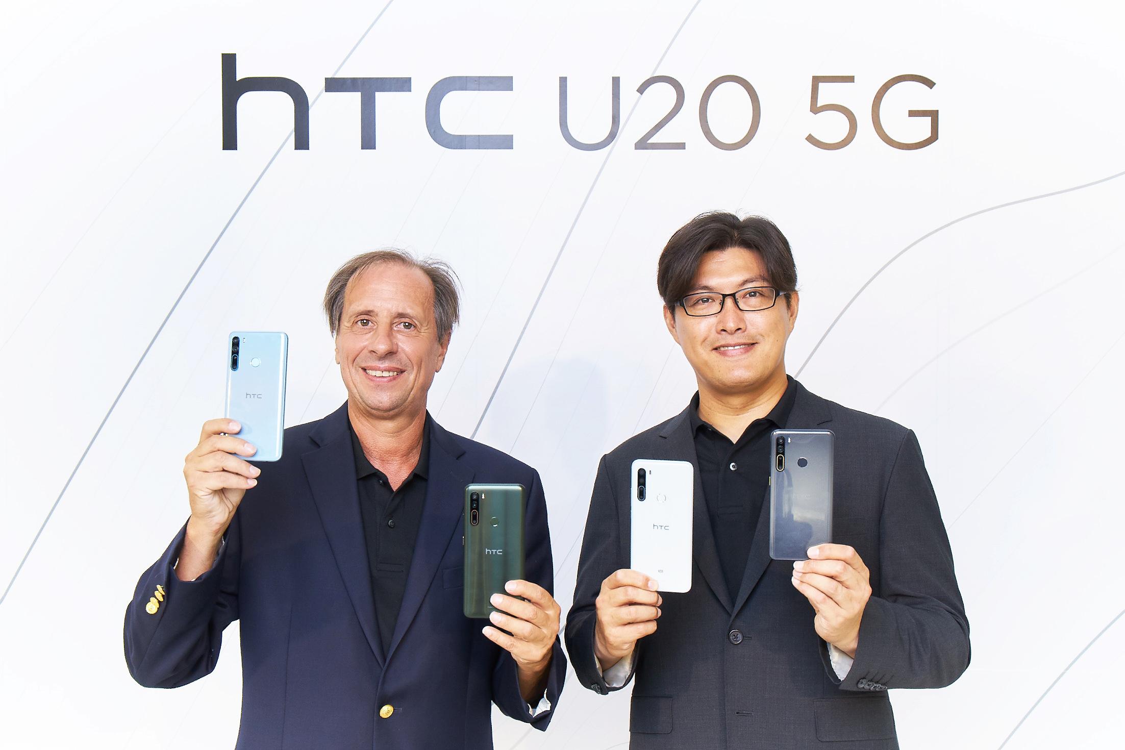 HTC台灣區總經理陳柏諭、HTC CEO Yves Maitre