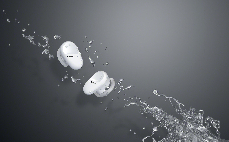 6) WF-SP800N 採用IP55防護認證,防水防塵可直接用水清洗且適用於戶外活動