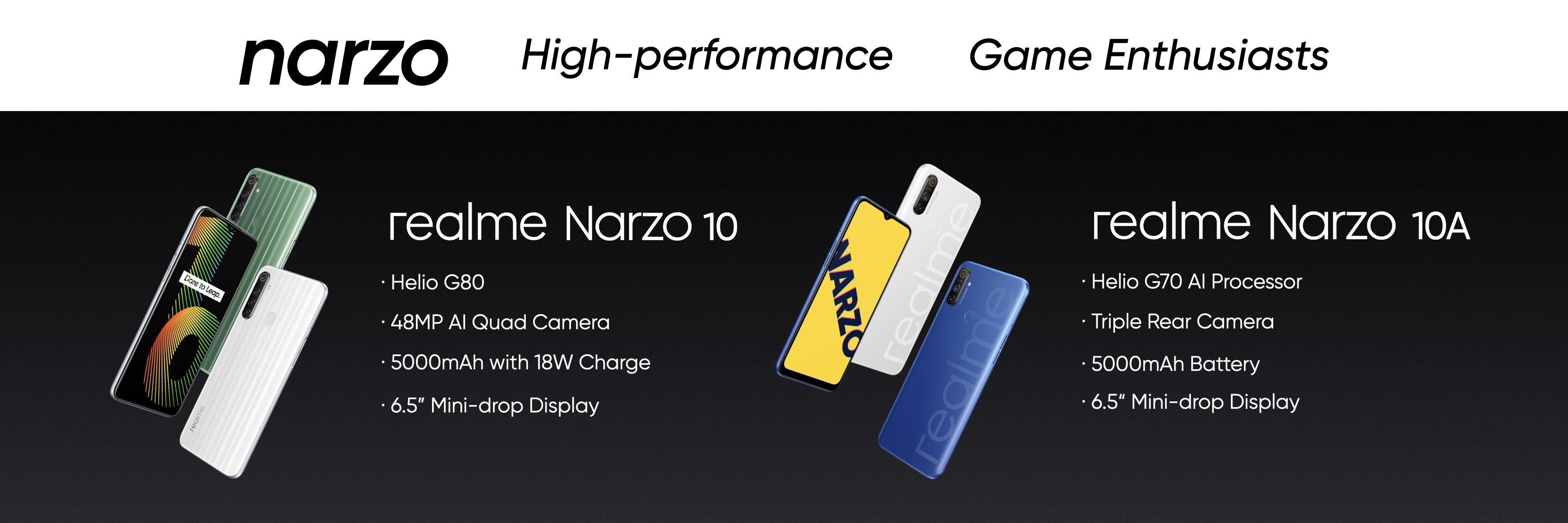 03_【4G產品線】realme Narzo系列,為遊戲玩家量身打造。