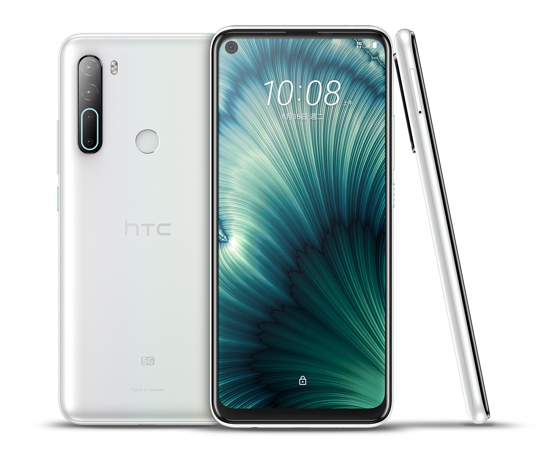 HTC新聞圖檔(HTC U20 5G晶岩白)