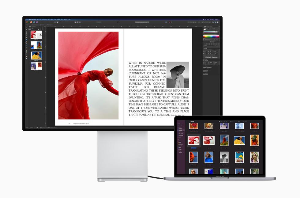 M1 具備 Apple 設計的 ISP,使得 Mac 上進行的視訊通話更清晰,也更生動自然。