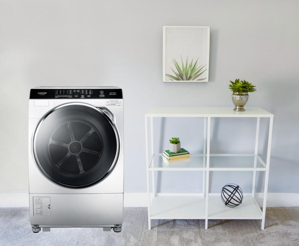 CHIMEI奇美輕柔淨美滾筒洗衣機,洗脫烘一機三用讓新的一年全家衣服清新潔淨迎好運。