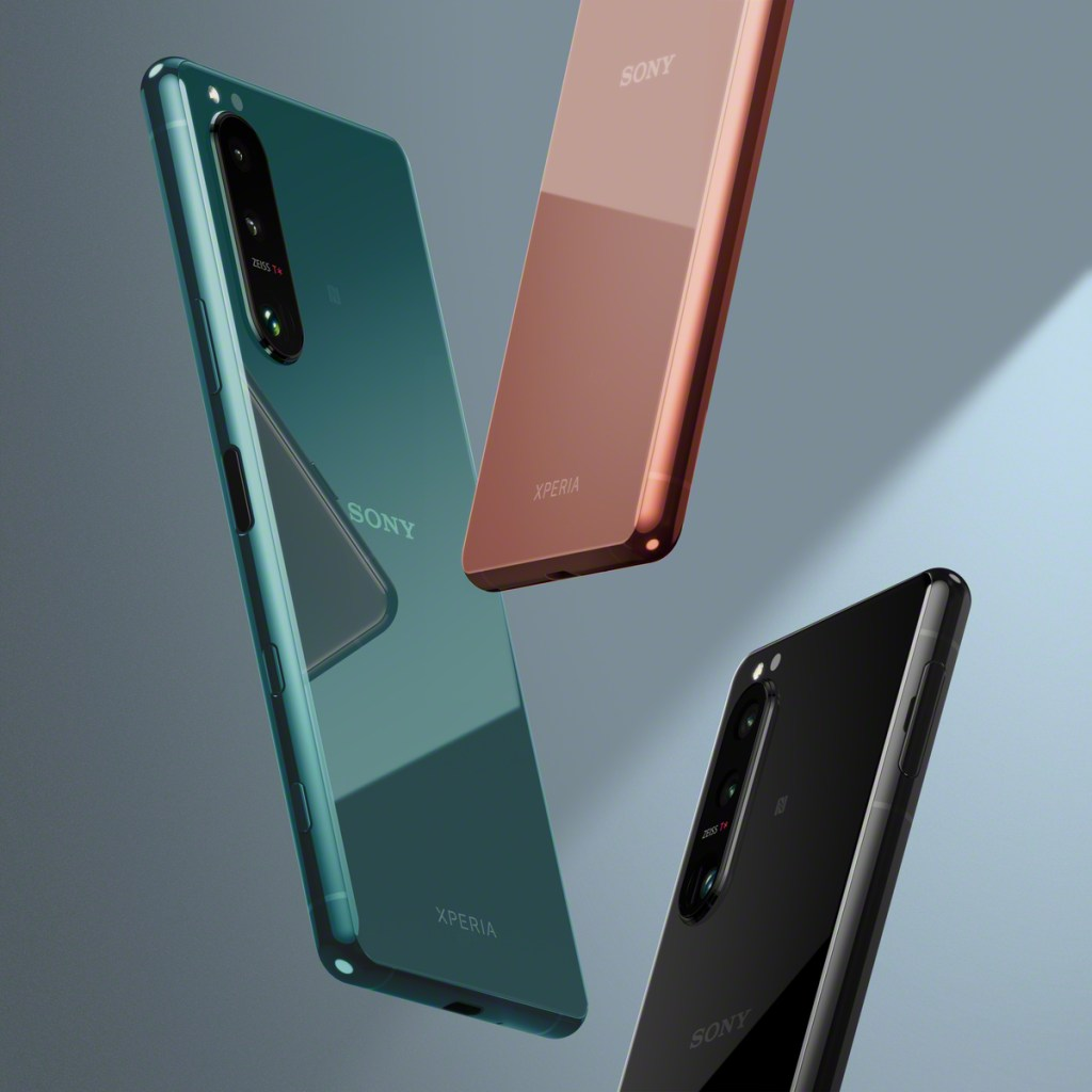 Xperia 5 III 共有鏡黑,鏡粉,鏡綠等三種手機顏色選擇,預計將於2021年初夏於台灣市場推出