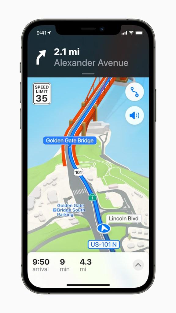 Apple「地圖」提供全新的城市導航和探索體驗,包含更逼真、色彩更豐富的細節呈現。