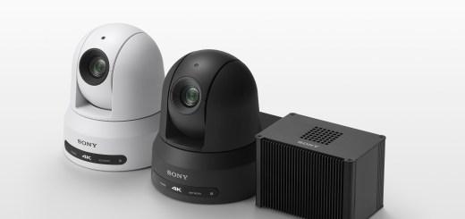 (左) PTZ遠端遙控攝影機 BRC-X400 (右) AI智慧影像分析單位REA-C1000