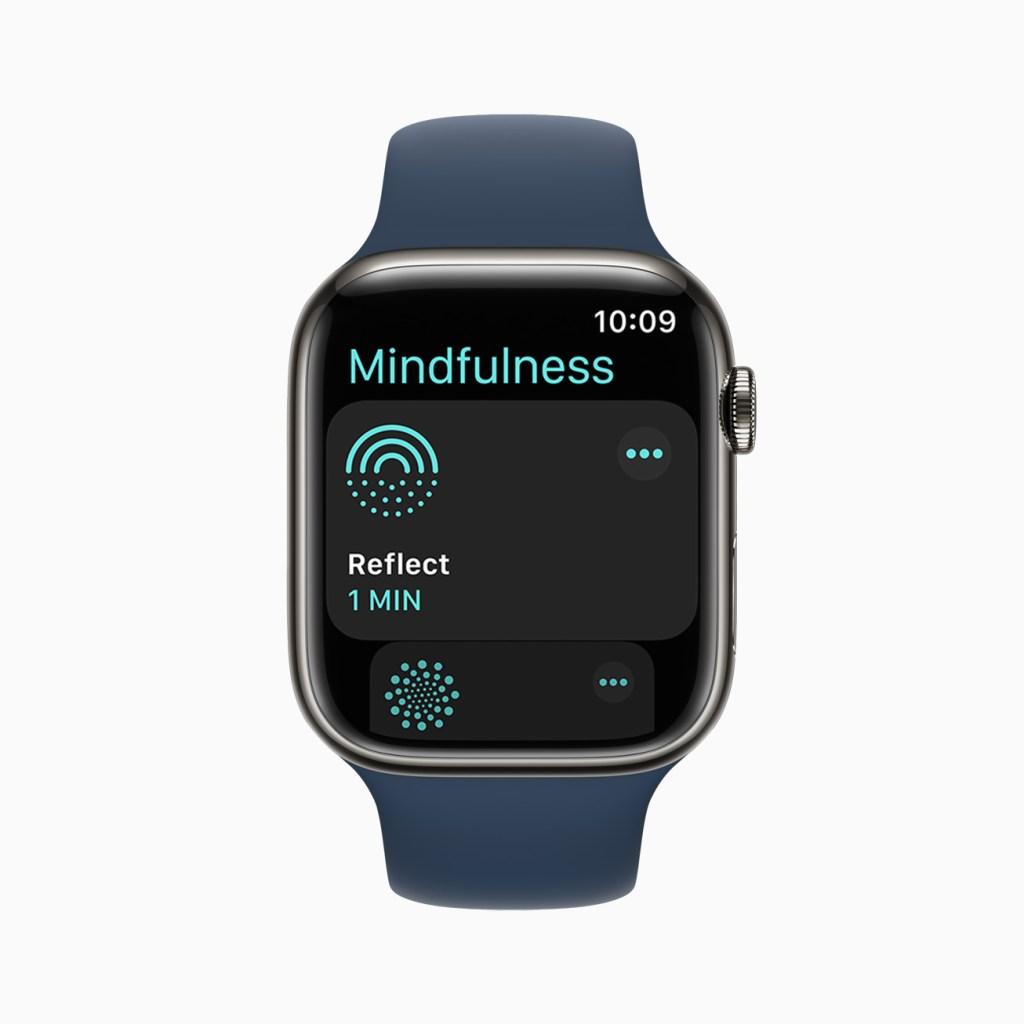 全新的「正念」app 擁有經過提升的「呼吸」體驗、全新「反思」訓練階段。