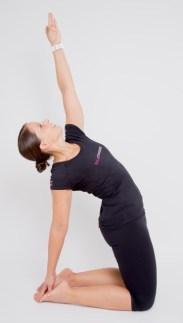 """Besser entspannen durch Yoga-Übungen. Hier siehst du das """"Kamel""""."""