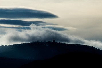 Foto, mystisches Thüringen, Wolken