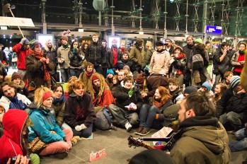 Asamblea im Berliner Hauptbahnhof, 15.01.2012