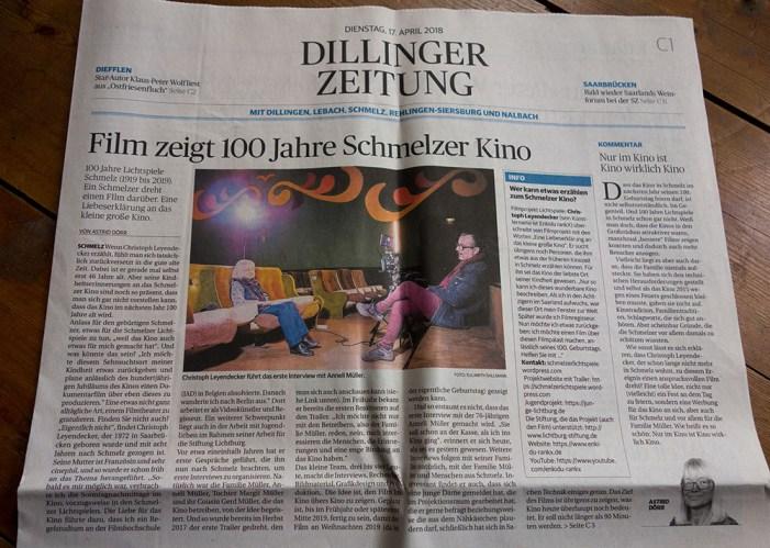 Zeitungsartikel und Foto