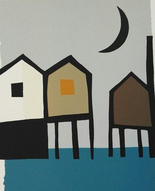 Barbro Tiller - 3 hus og måne