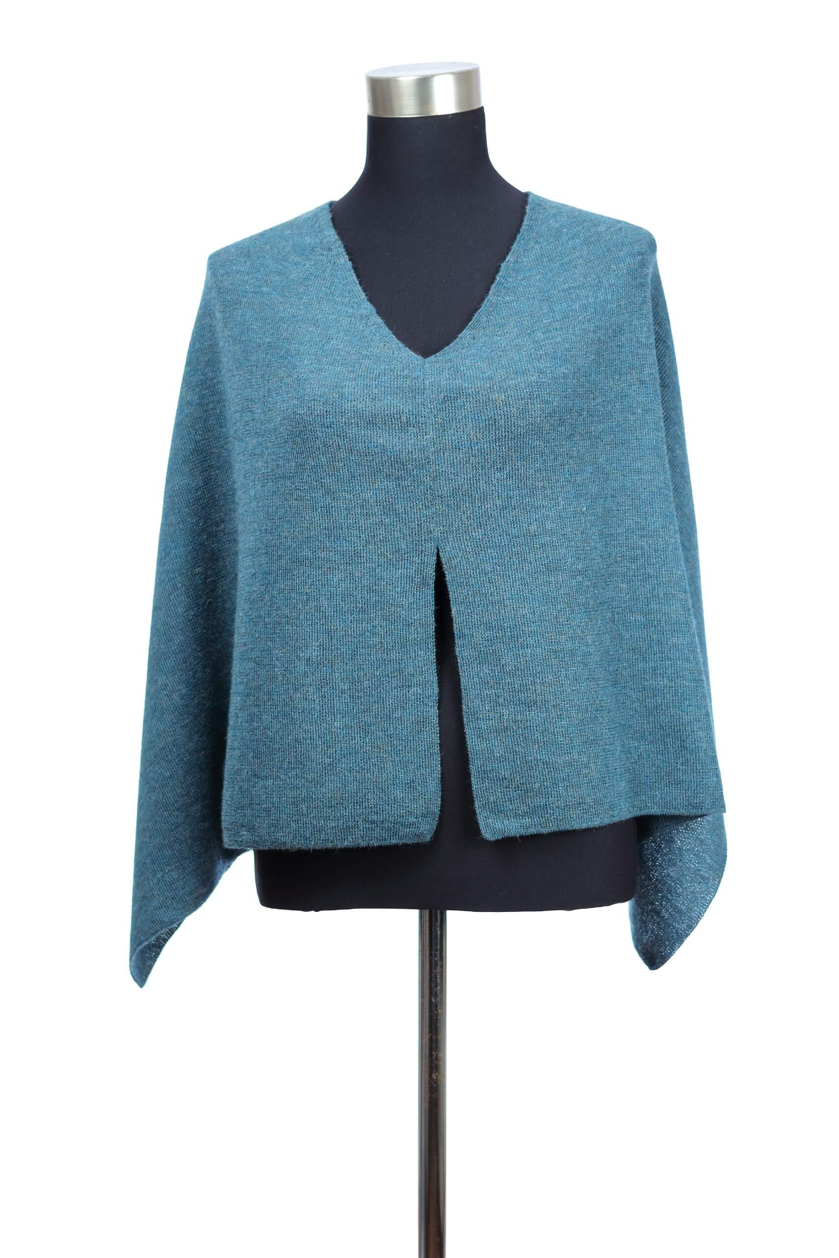 Poncho Veronica Pacific Blue front