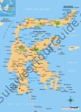 Sulawesi Tour Destination Map