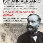 150° anniversario del sopralluogo effettuato da Q. Sella  alle miniere della Sardegna