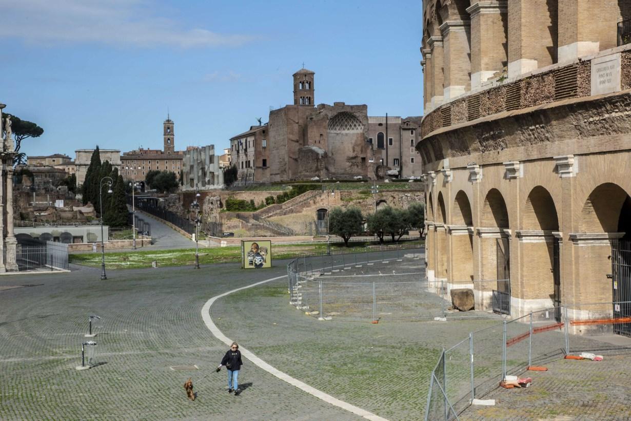 Roma, 15 marzo 2020.Roma nei tempi del Coronavirus.