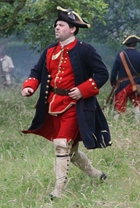 Future first US president George Washington as a young officer in the British Army during the French and Indian War 1754 to 1763