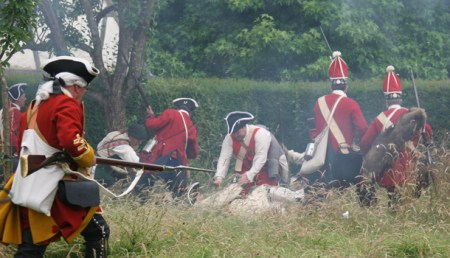 After hand to hand fighting the French surrender...