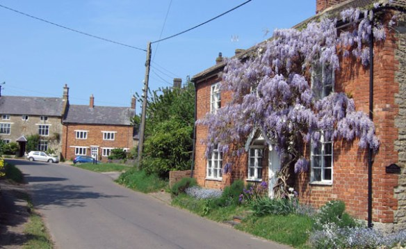 """If Winter's here, can Spring be far behind?"" Wisteria Cottage in April"