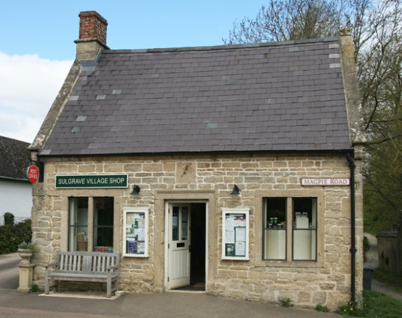 The village community shop, normally shut on Sundays....