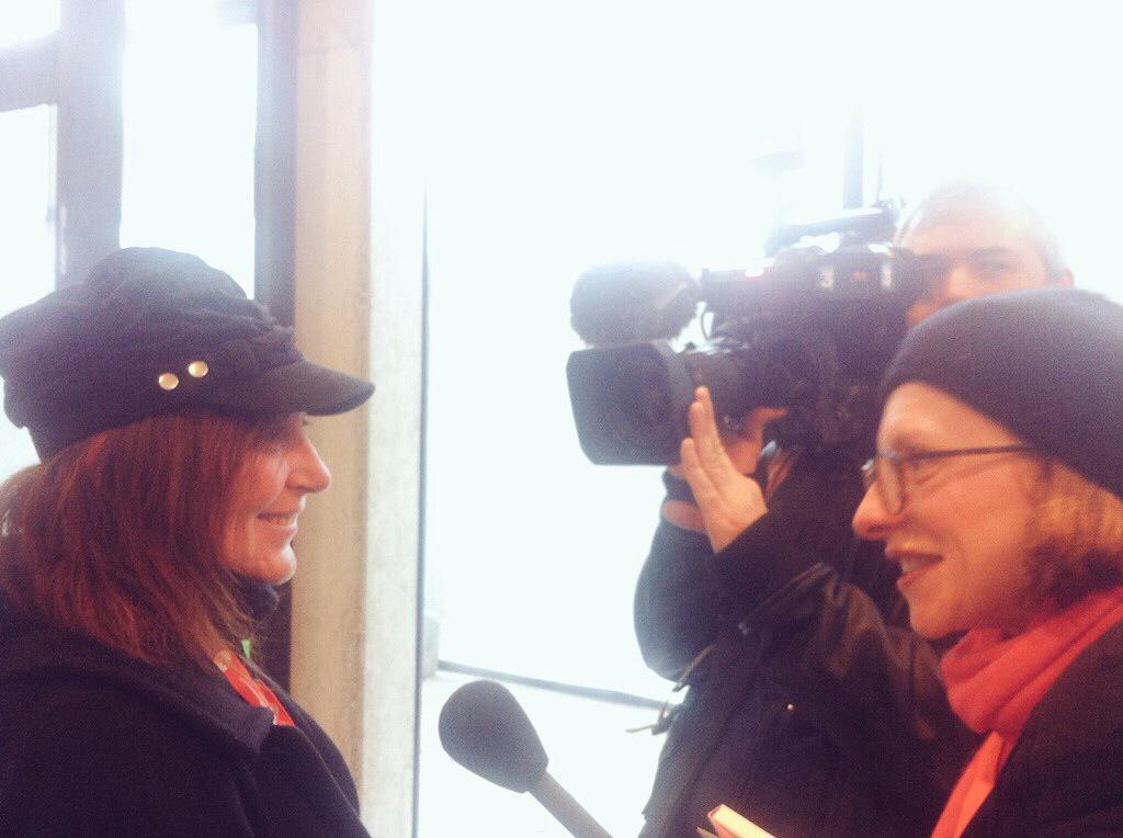 Simonetta Clucher intervistata dalla TV