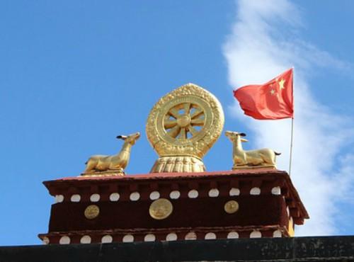 bandiera della Cina in Tibet